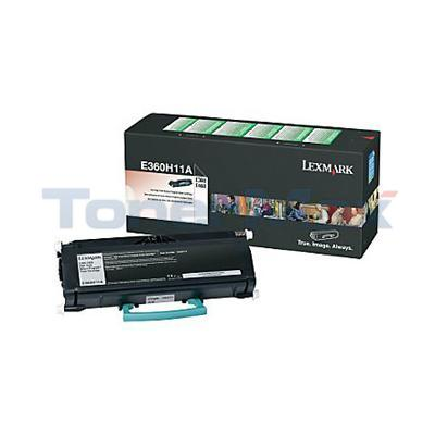 LEXMARK E360N TONER CARTRIDGE BLACK RP 9K